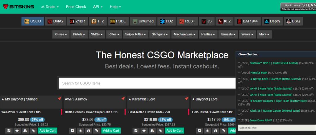 BitSkins Review - Buy & Sell CSGO Skins & Items | Top100