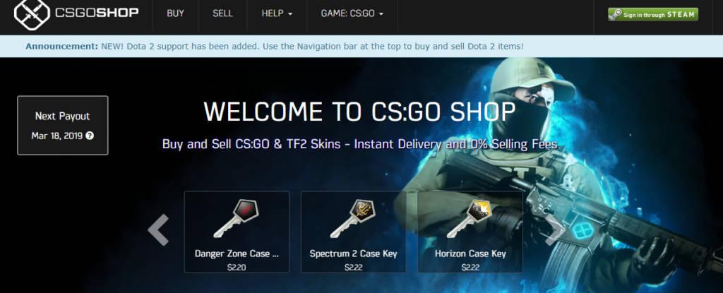 cs skin shop