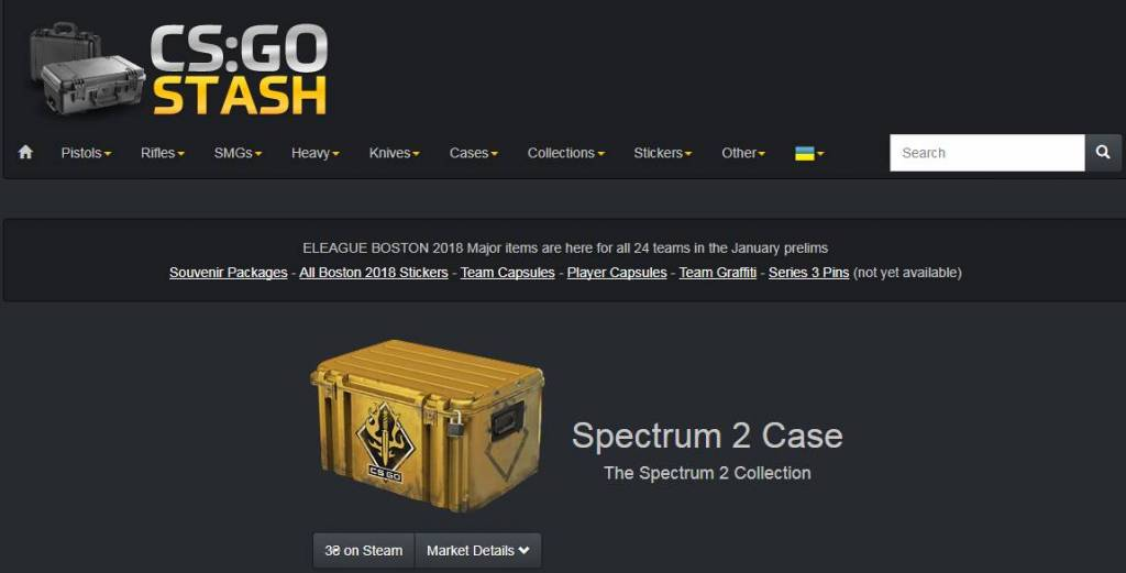 CSGO Stash - Browse all skins, stickers and items