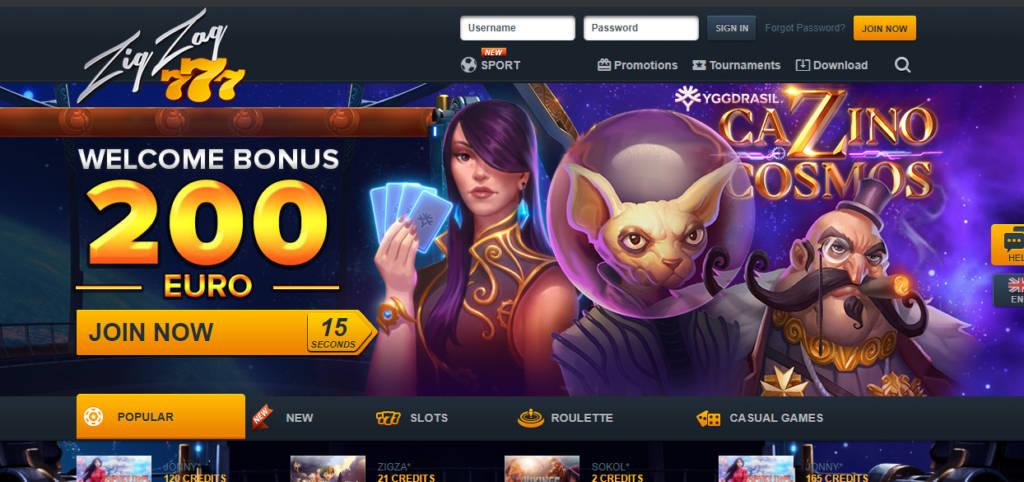 ZigZag777.com Casino Review